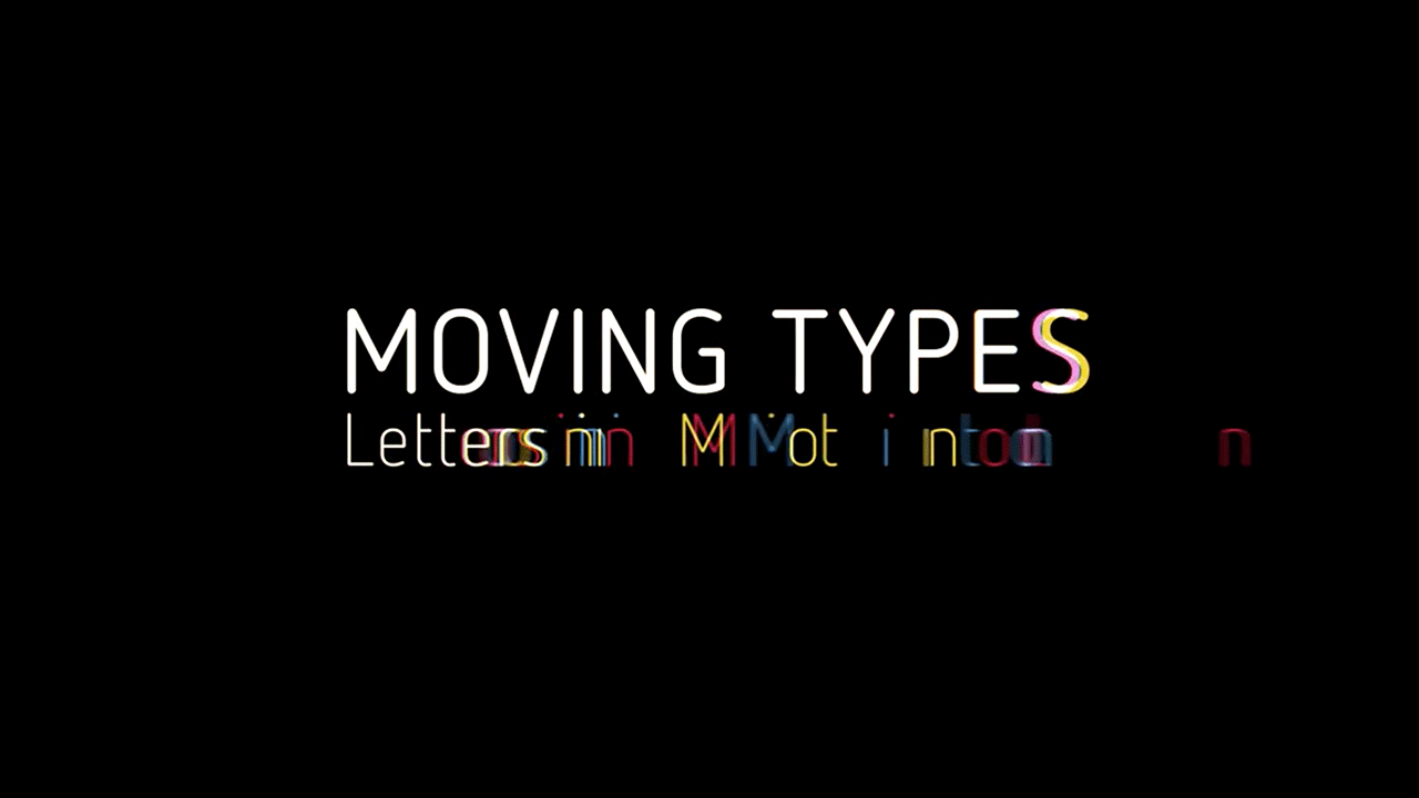 MOVING TYPES Titelbild Logo Animation