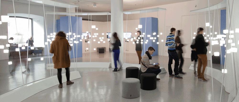 Moving Types Ausstellung zu betete Typografie im Prediger in Schwäbisch Gmünd